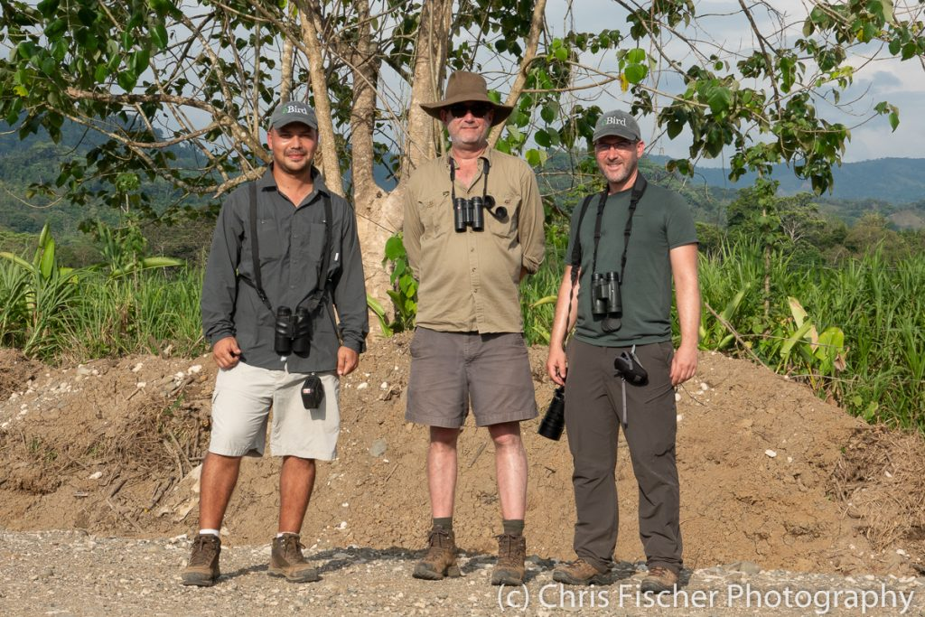 Daniel Hernandez, Andrew Vallely & Chris Fischer at the Ciudad Neily rice fields