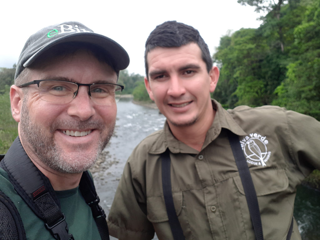 Chris Fischer with Ronald Jimenez Saborio, Selva Verde Naturalist and Bird Guide